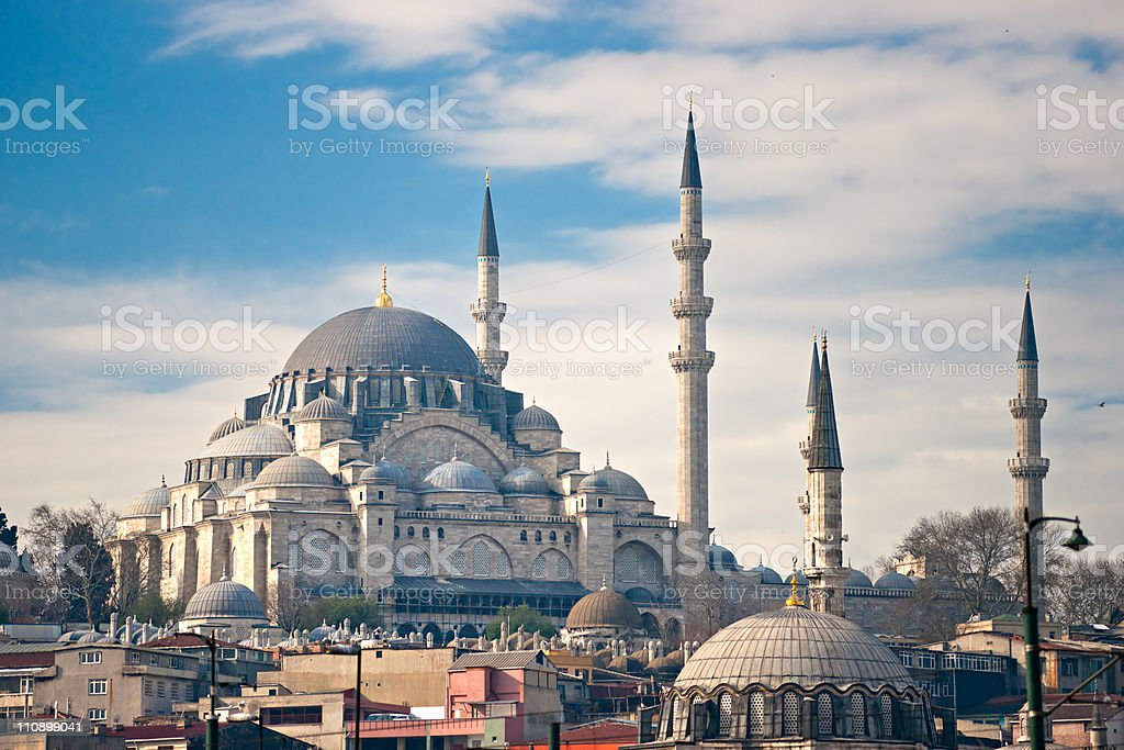 The Suleymanie Mosque (Fatih District). Istanbul. royalty-free stock photo