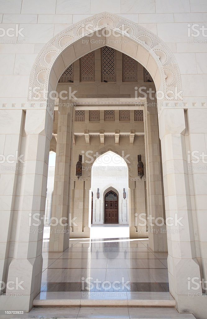 The Sultan Qaboos Grand Mosque stock photo