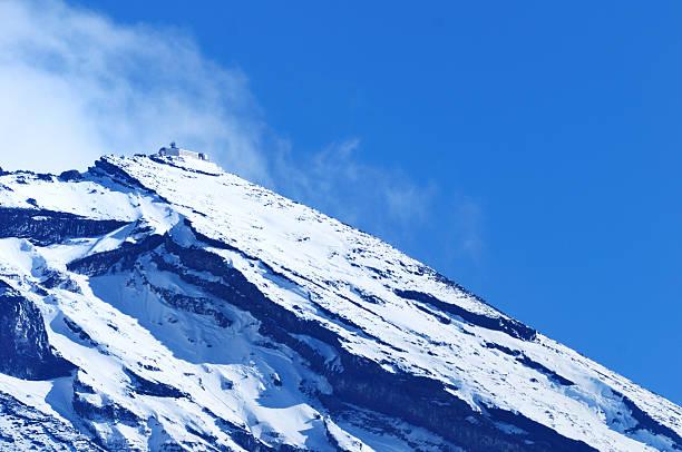 サミットの富士山 - 観測所 ストックフォトと画像
