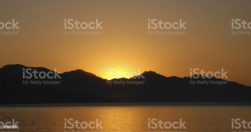 the sun before rising royalty-free stock photo