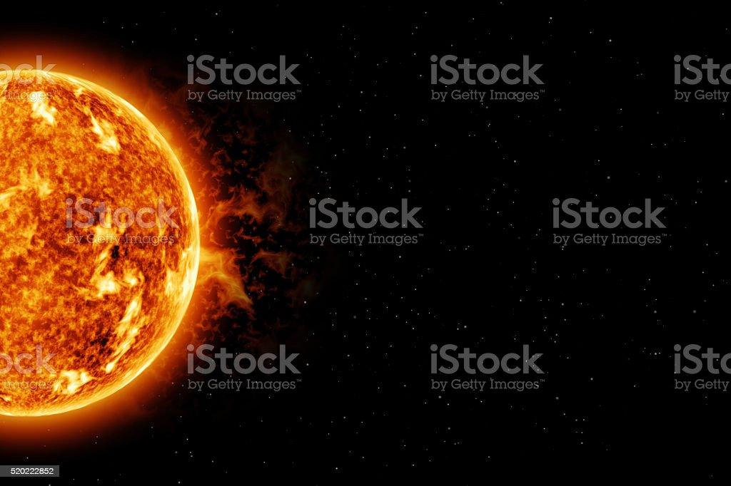 The Sun - centre left stock photo