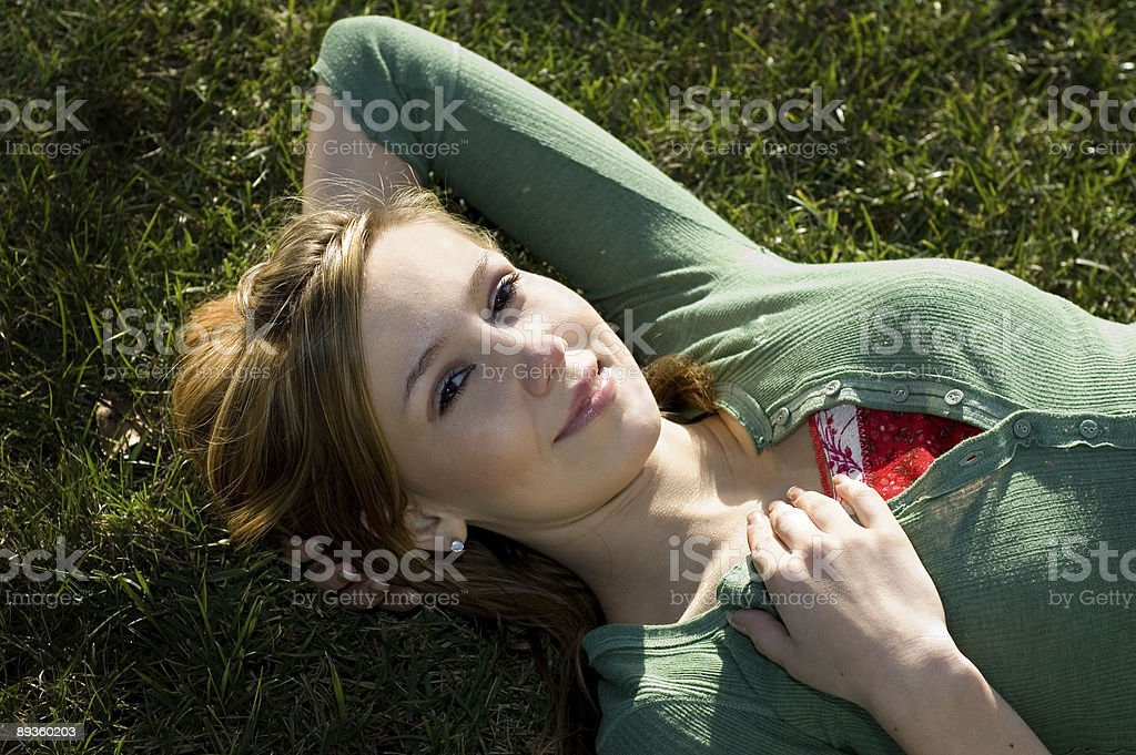 The Sun Feels So Good! royalty free stockfoto