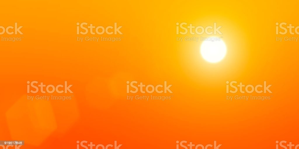 The sun is in the sky stock photo