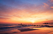 istock The sun rising at the beach in the morning 117146356