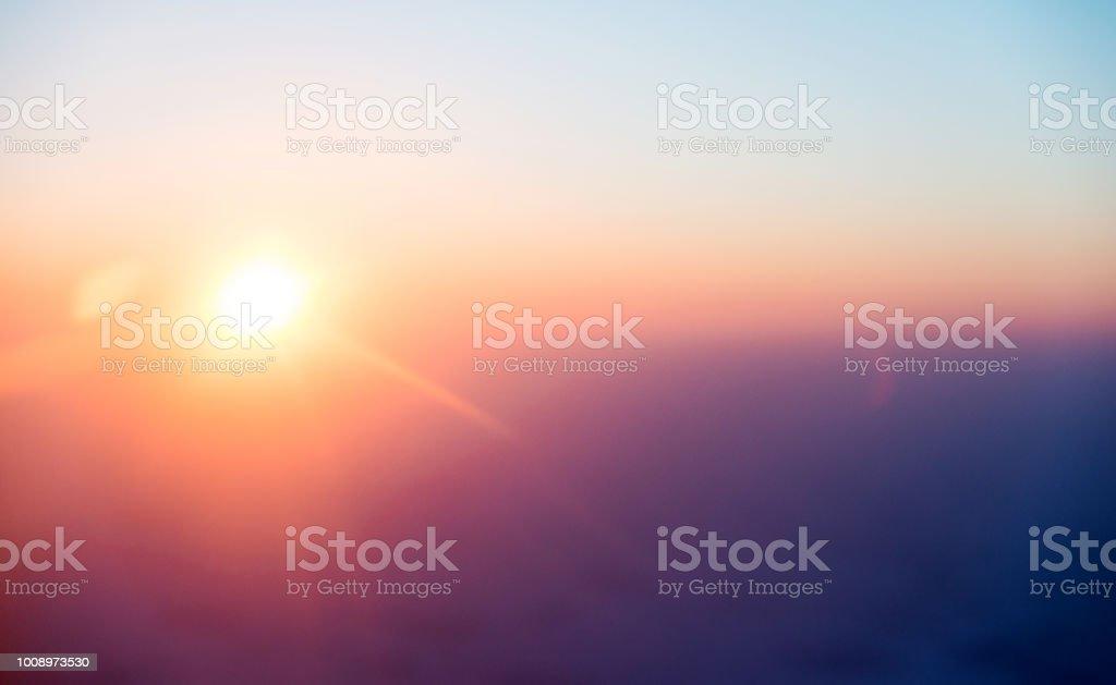 Die Sonne morgens aufgeht – Foto