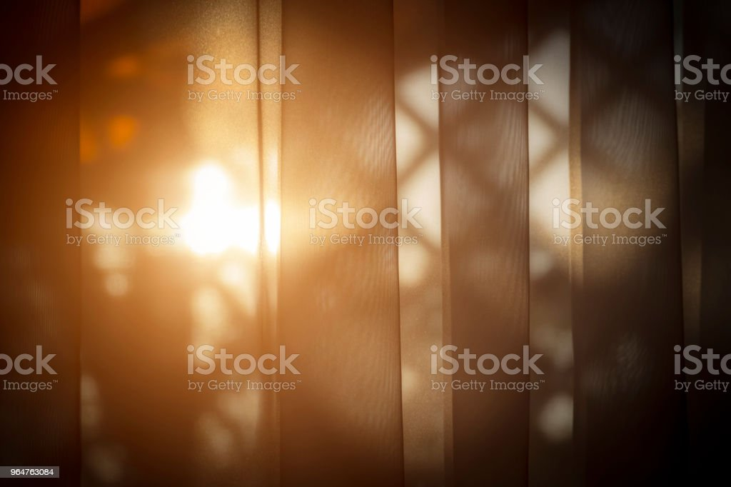 The sun shines through the window royalty-free stock photo