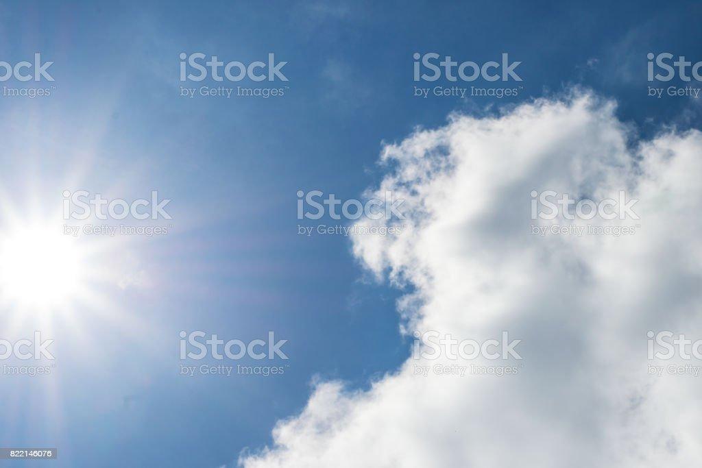 the sun shining through clouds stock photo