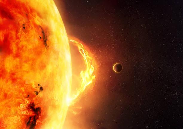 The Sun - Solar Flare stock photo