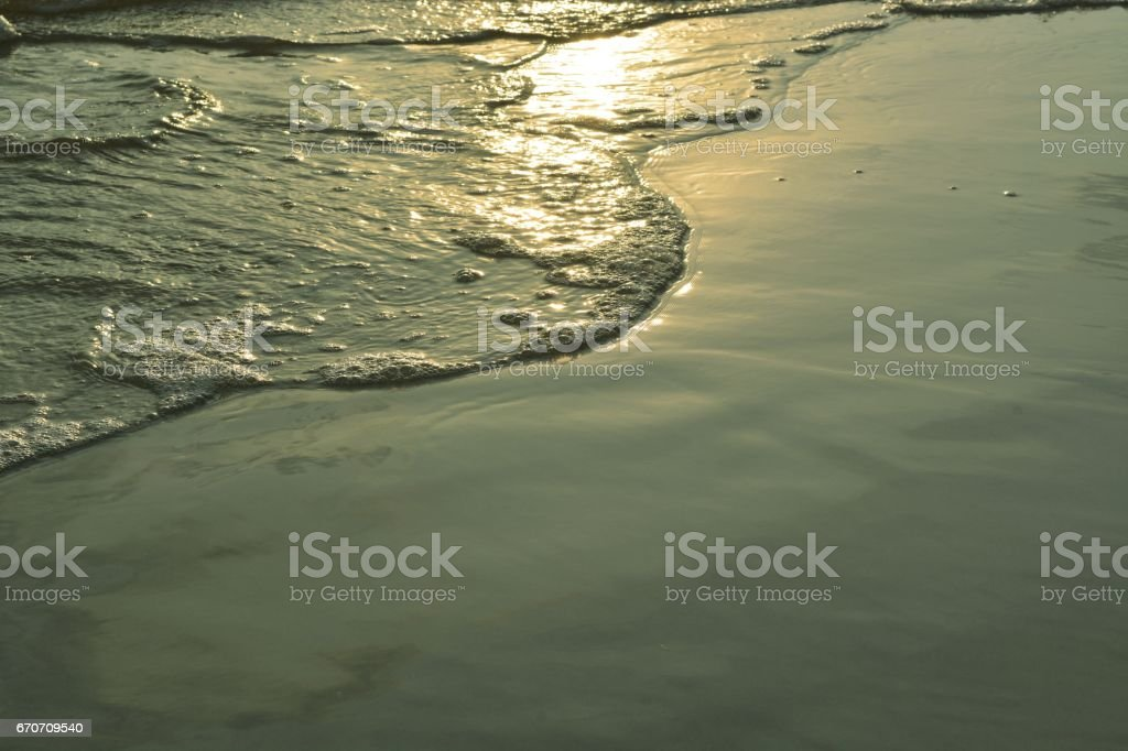 the sunlight and sea in summer stock photo
