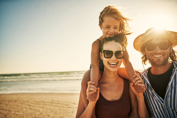 The sunny season is the fun season stock photo