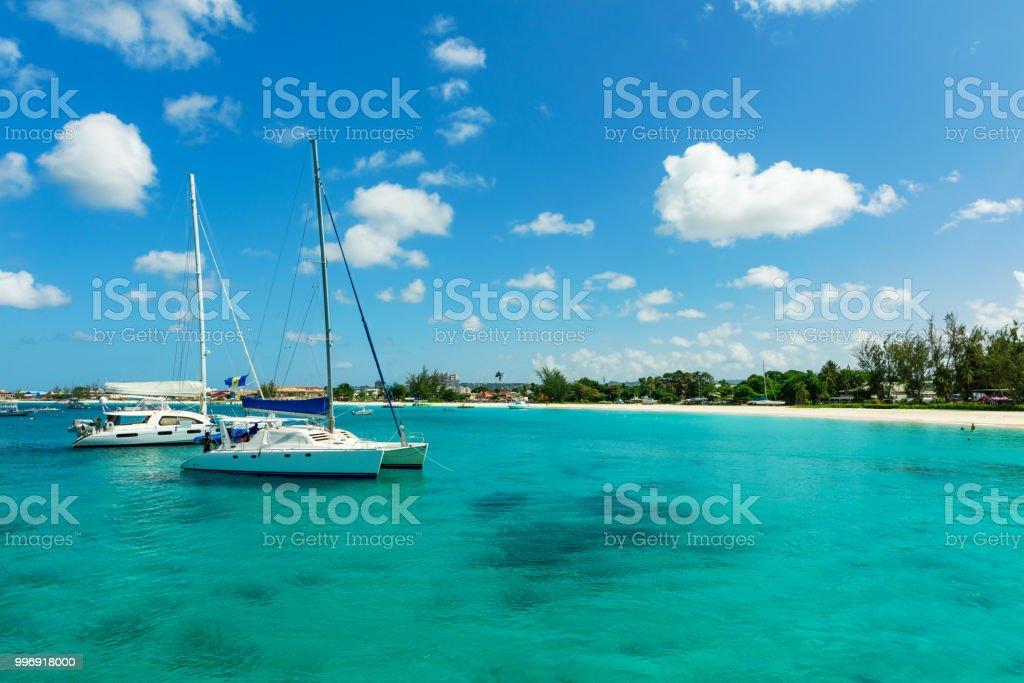 The sunny tropical Caribbean island of Barbados stock photo