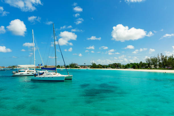 The sunny tropical Caribbean island of Barbados stock photo