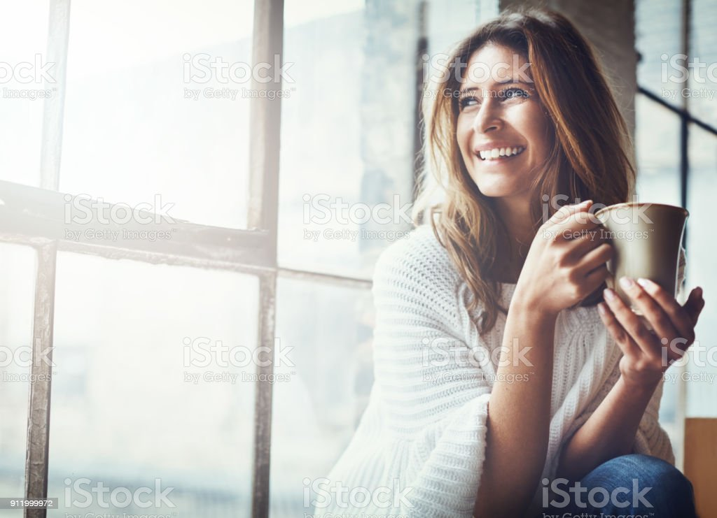 The sun's up and so is my mood - Foto stock royalty-free di Adulto
