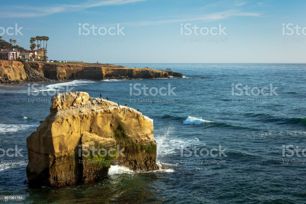 The Sunset Cliff at San Diego, CA stock photo