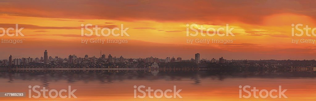 the sunset of city royalty-free stock photo