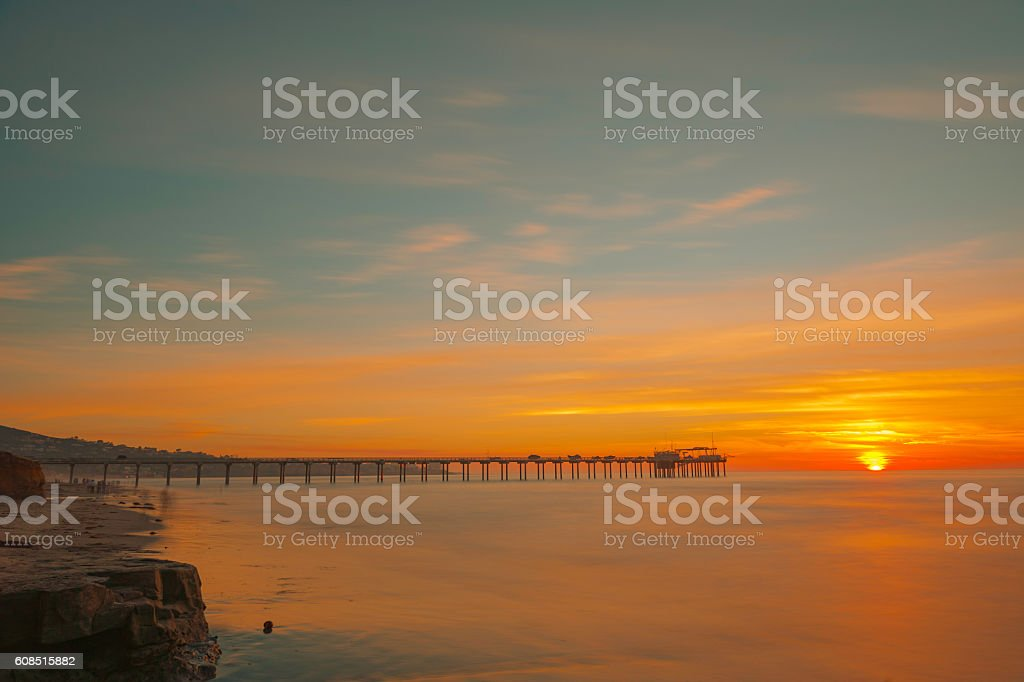 The Sunset of La Jolla stock photo
