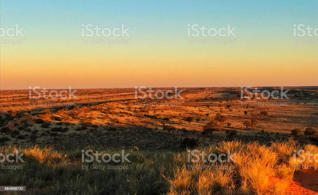 The Sunset View and the Desert stock photo