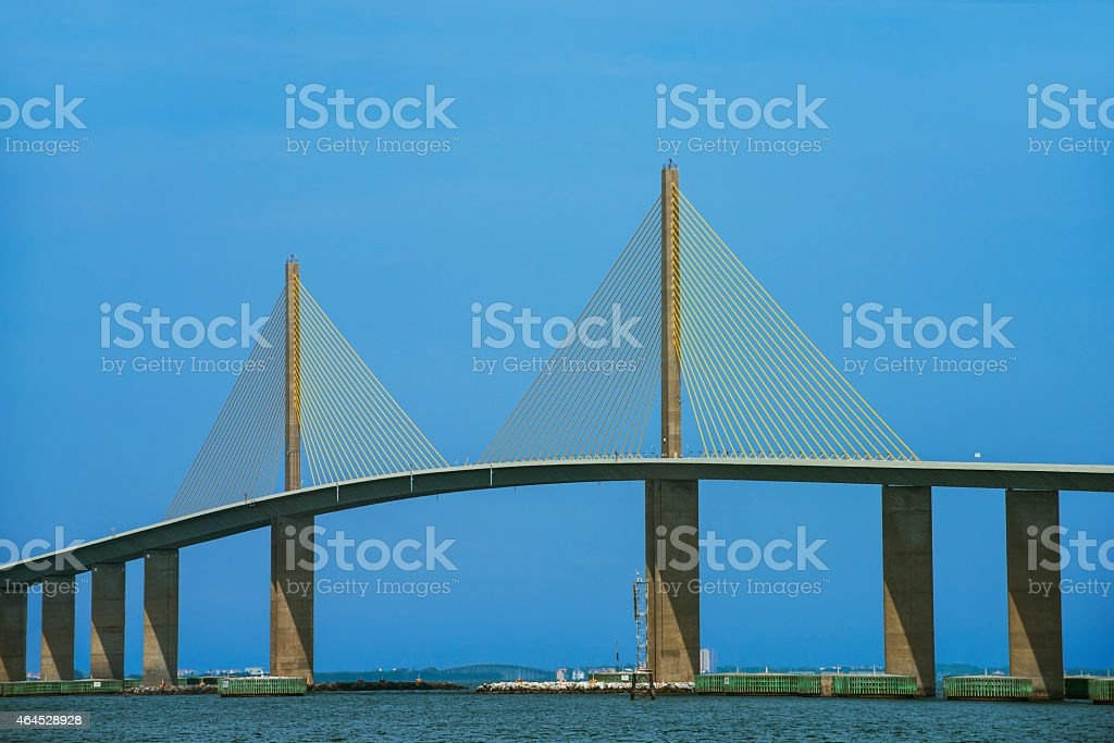The Sunshine Skyway Bridge stock photo