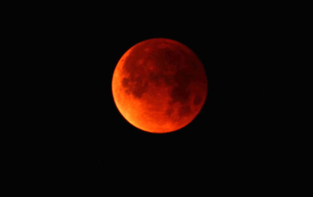 The Super Blue Blood Moon in the Sky stock photo