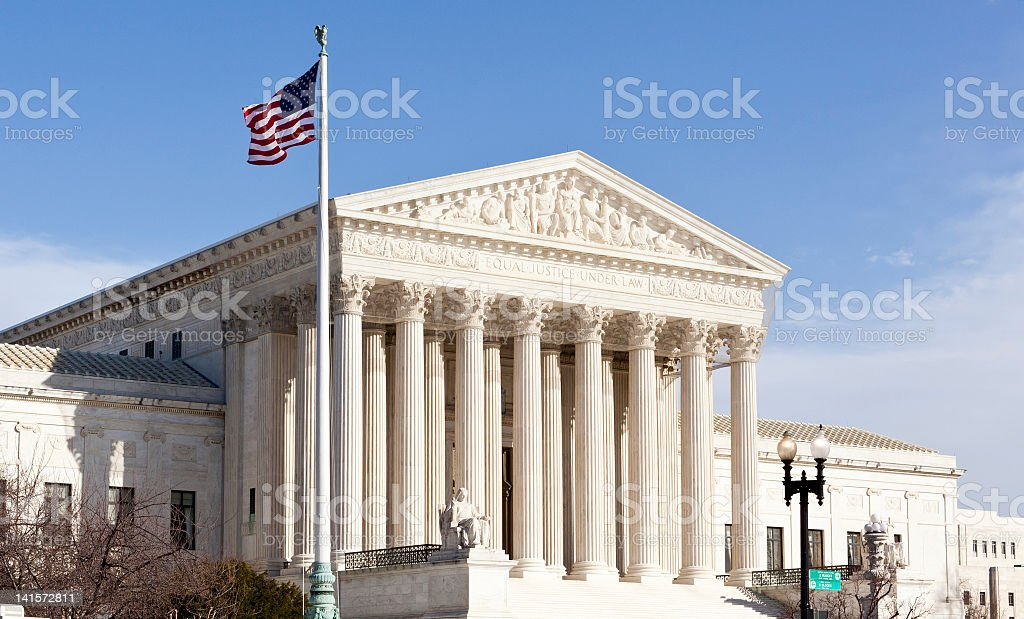 The Supreme Court of the United States in Washington, D C royalty-free stock photo