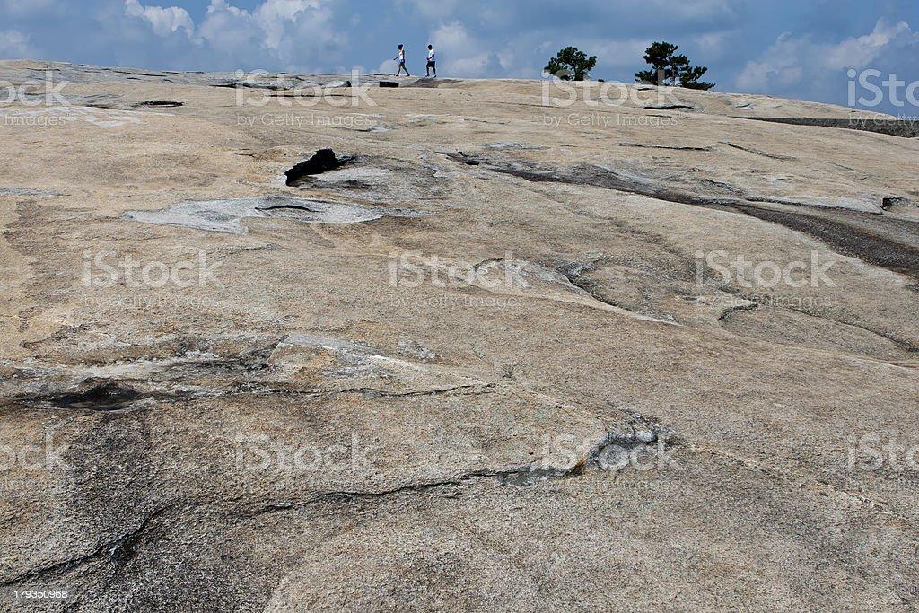 The surface of Stone-Mountain. Atlanta, Georgia royalty-free stock photo