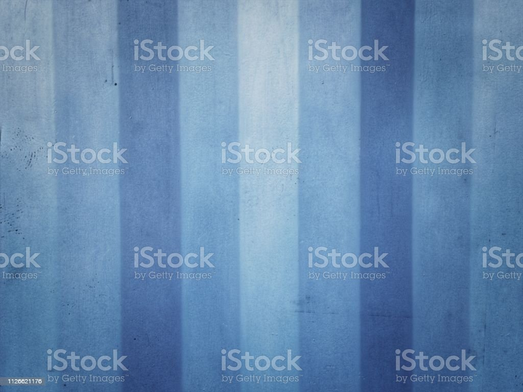 The surface of the blue metal plate stock photo