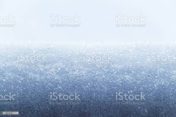 Photo of The surface of the white snow
