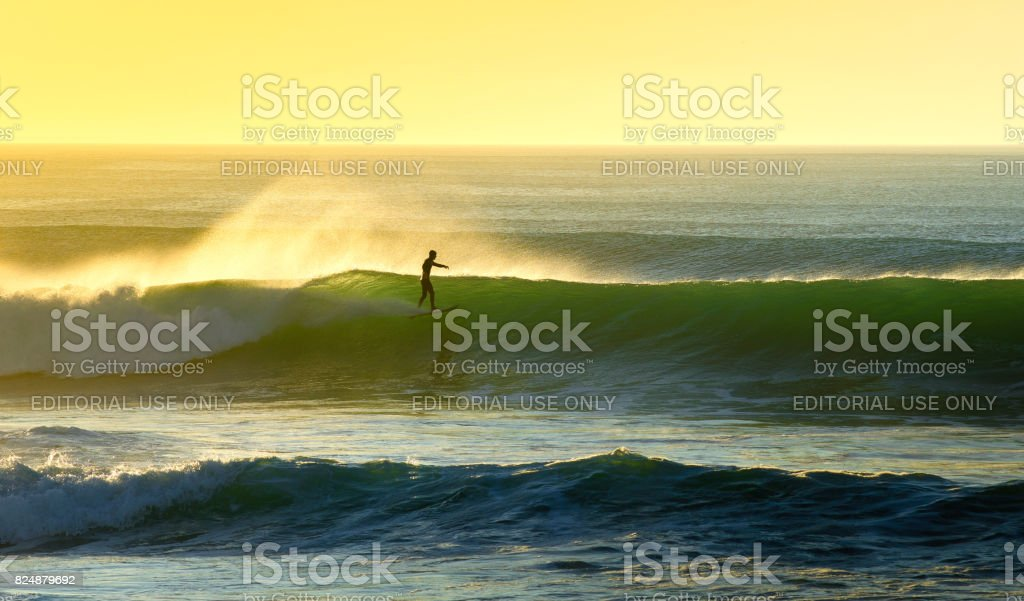 The Surfing Feeling stock photo