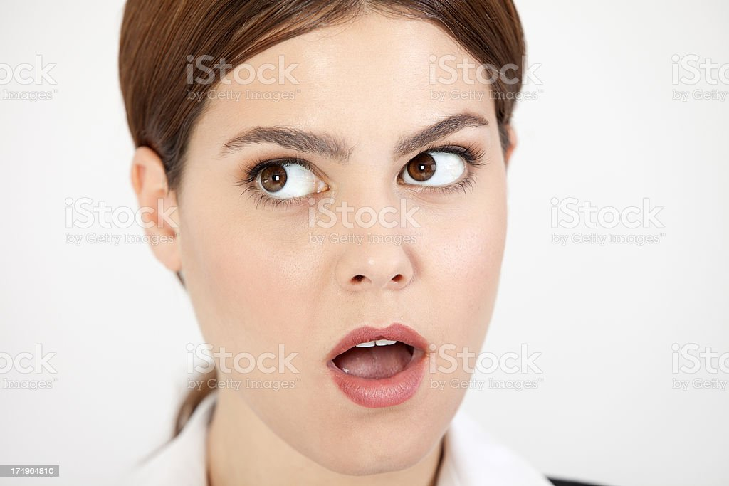 The Surprised Businesswoman royalty-free stock photo