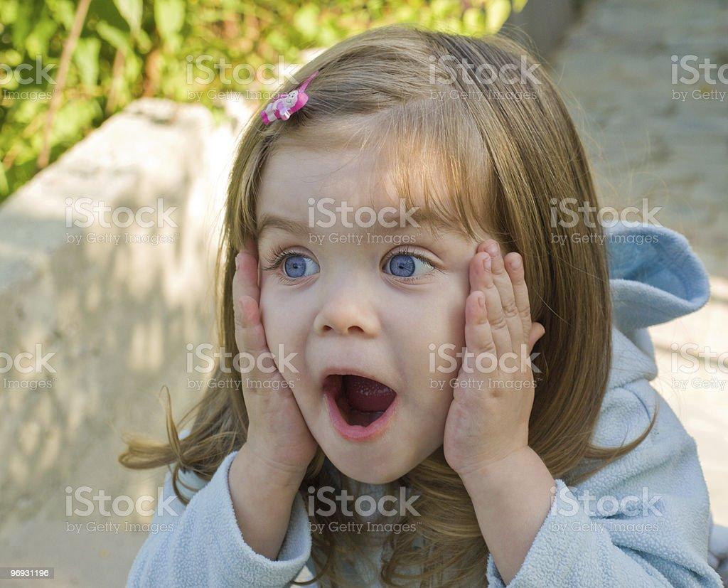 The surprised girl royalty-free stock photo