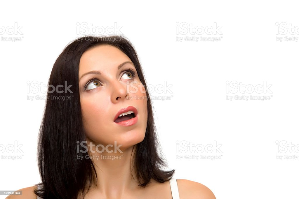 The surprised woman royalty-free stock photo