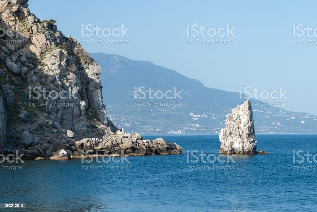 The swallows nest, promontory in the black sea near Yalta stock photo