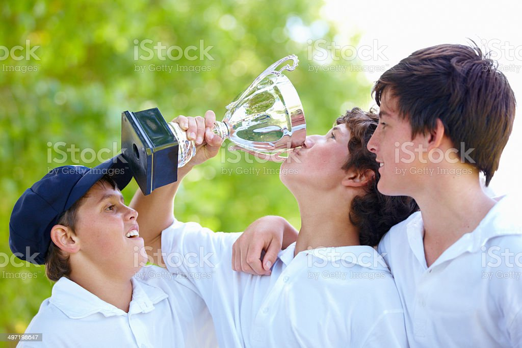 The sweetness of victory stock photo
