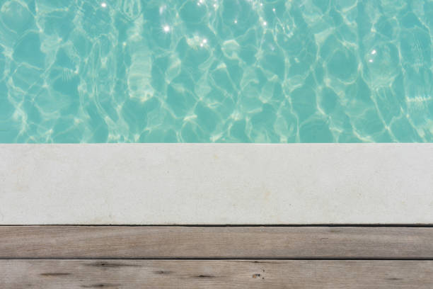 The swimming pool deck the wooden deck with swimming pool texture poolside stock pictures, royalty-free photos & images