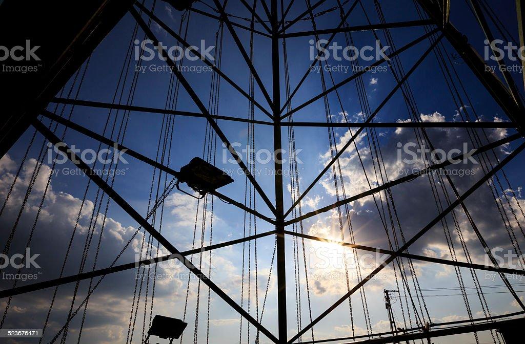 the swing ride stock photo