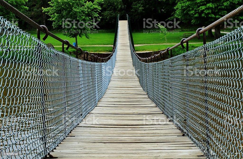 The Swinging Bridge stock photo