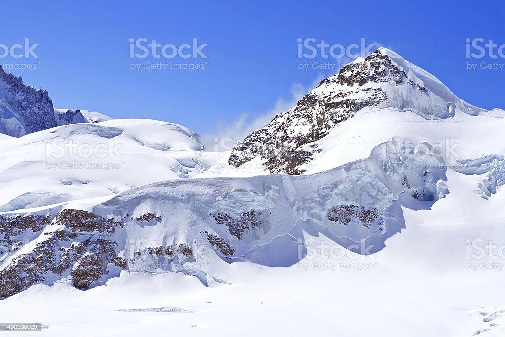 The Swiss Alps at Jungfrau region, Swizerland royalty-free stock photo