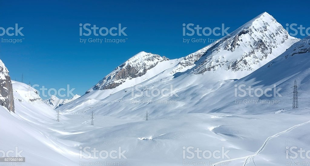 The Swiss Alps from the Gemmi Pass stock photo