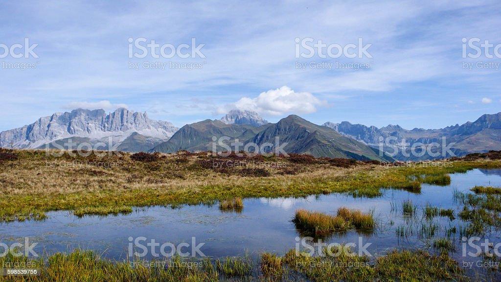 the Swiss Alps near Klosters photo libre de droits