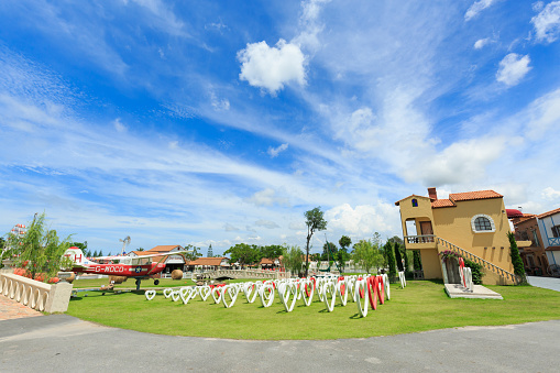 istock The Swiss Sheep Farm Where is the biggest sheep farm and fun park style in Pattaya 666856686
