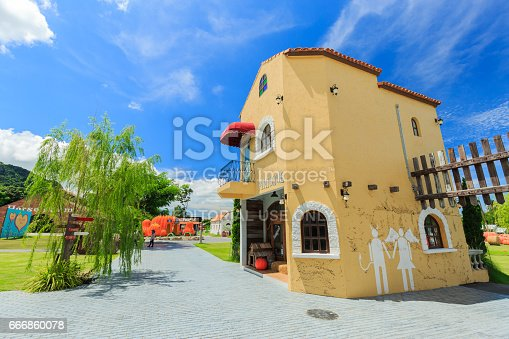 istock The Swiss Sheep Farm Where is the biggest sheep farm and fun park style in Pattaya 666860078
