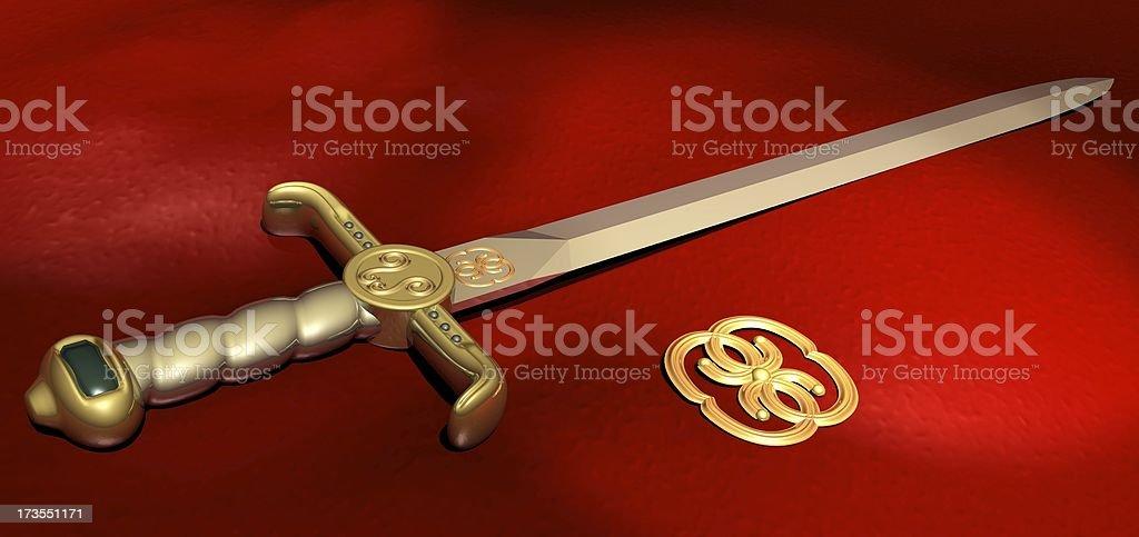 The Sword royalty-free stock photo
