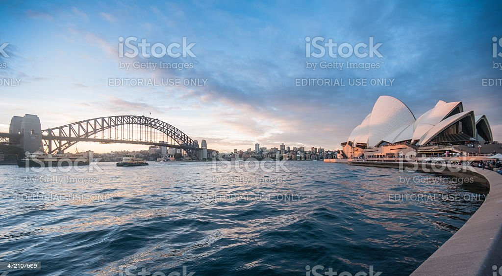 the Sydney Harbour Bridge stock photo