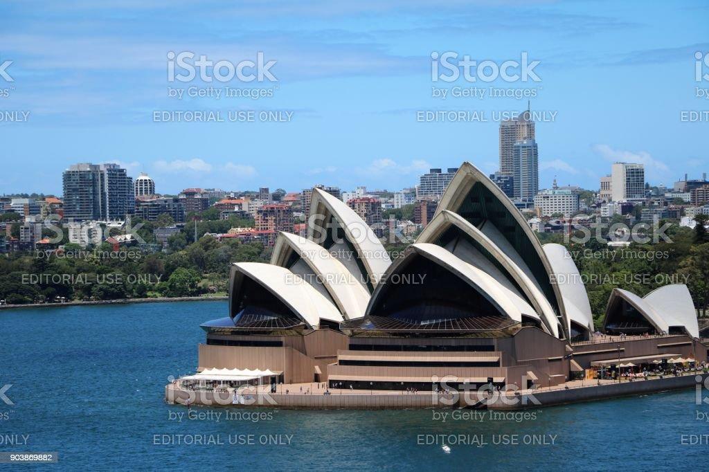 The Sydney Opera House, New South Wales Australia stock photo