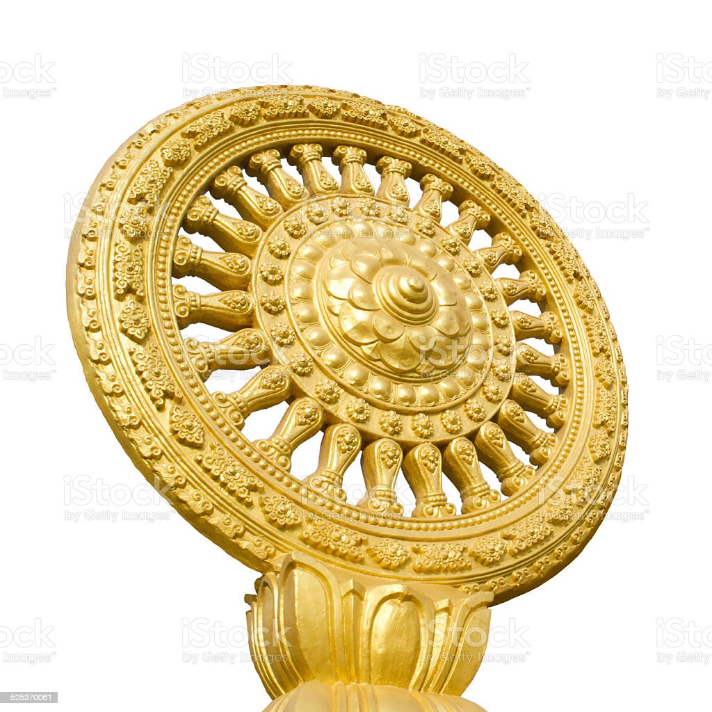 The symbol of Buddhism isolate stock photo