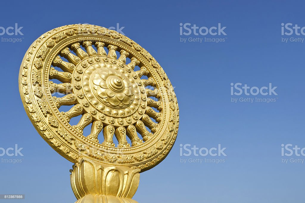 The symbol of Buddhism stock photo