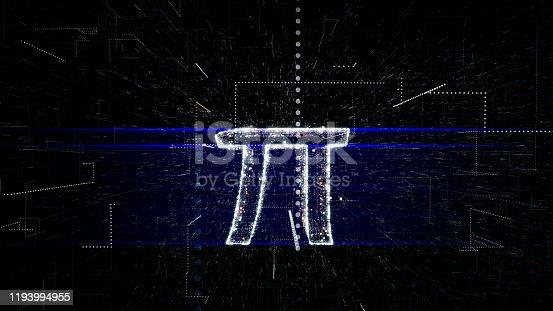 Mathematical Symbol, Mathematics, Pi - Number, 4K Resolution, Abstract