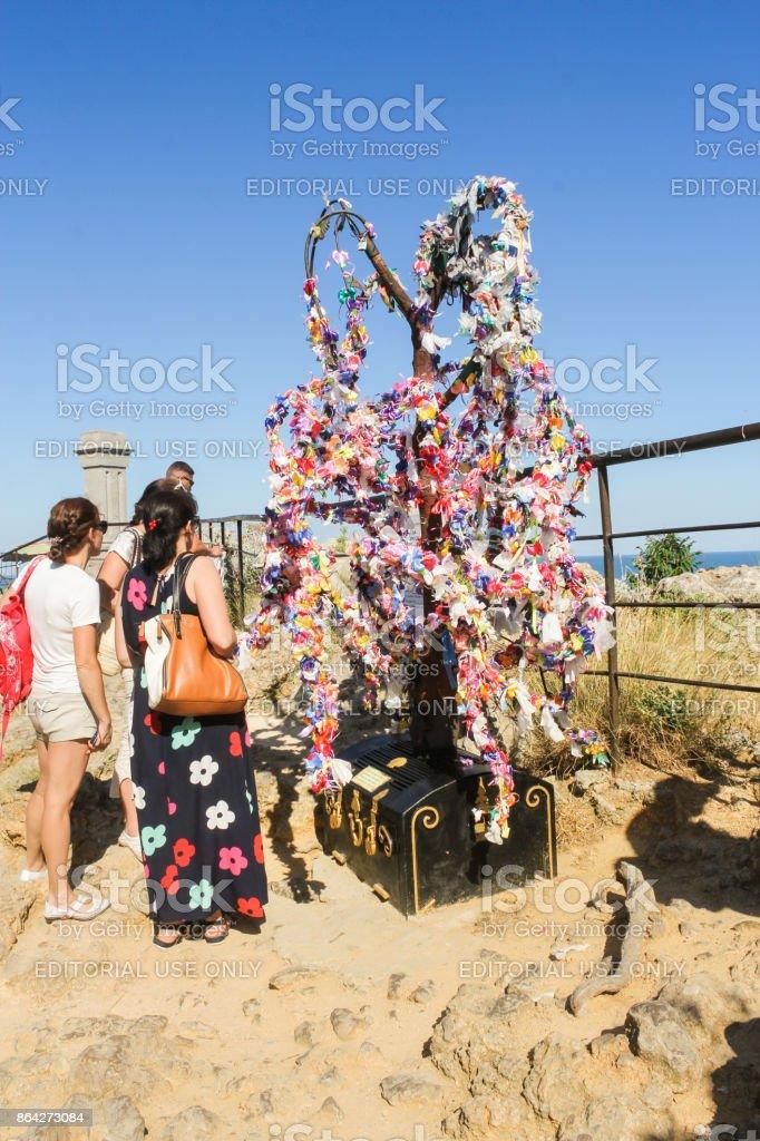 The symbolic tree of desires. royalty-free stock photo