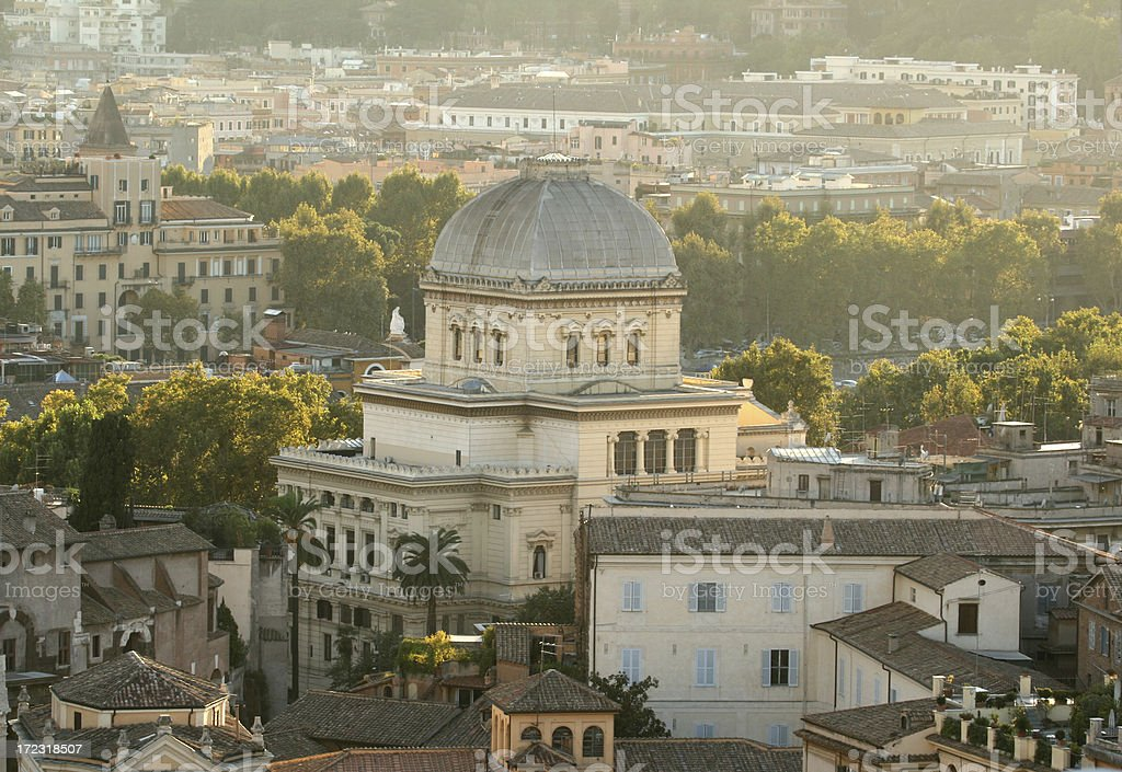 The synagogue in Rome, Italy royalty-free stock photo