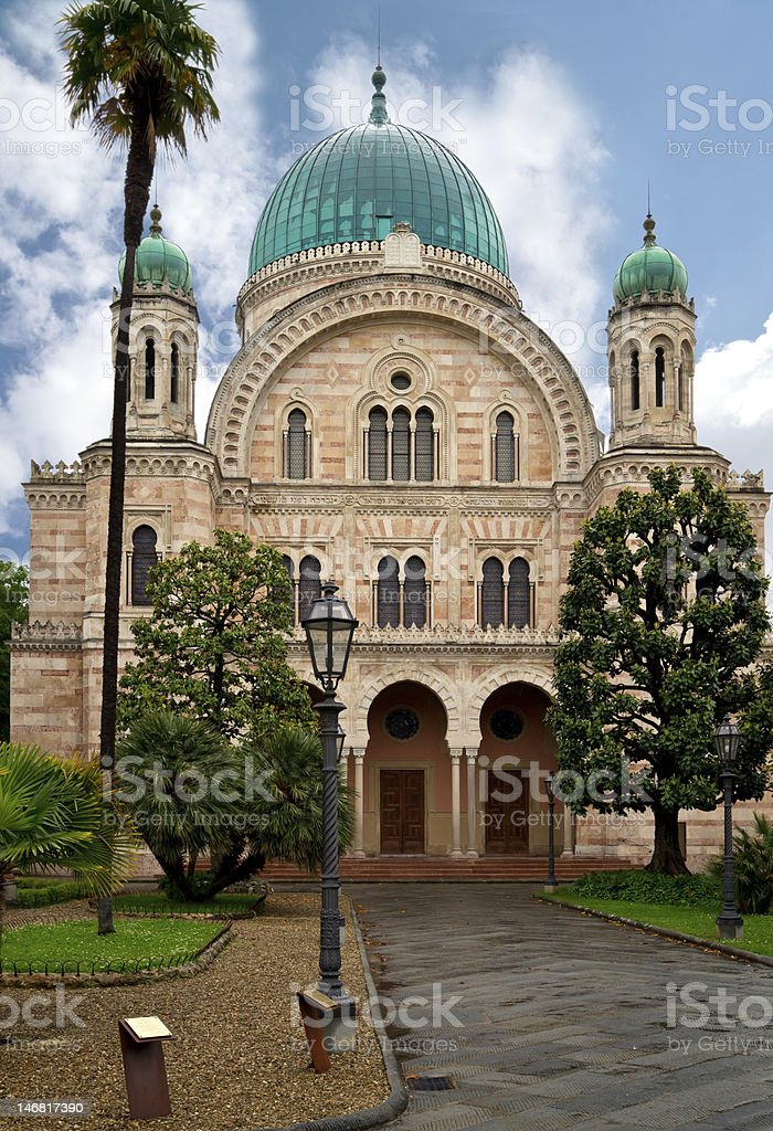 The Synagogue of Florence royalty-free stock photo